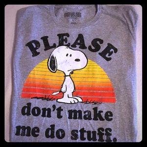 db1bacf9 Peanuts Shirts   Distressed Please Dont Make Me Do Stuff Snoopy T ...